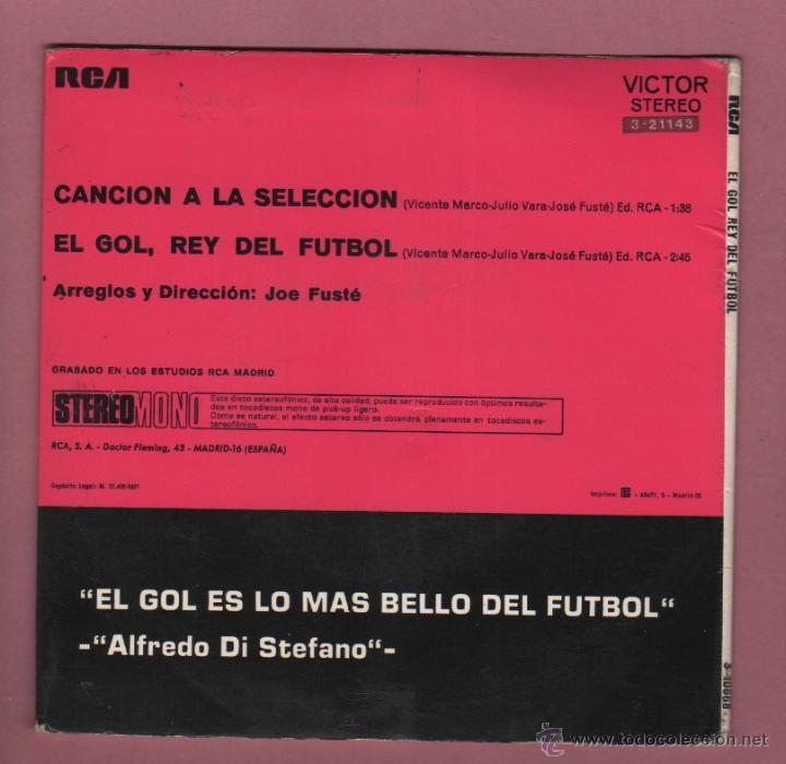 Coleccionismo deportivo: interesante disco el gol, rey del futbol - canción a la selección española -de rca - 1971 - Foto 2 - 50823188