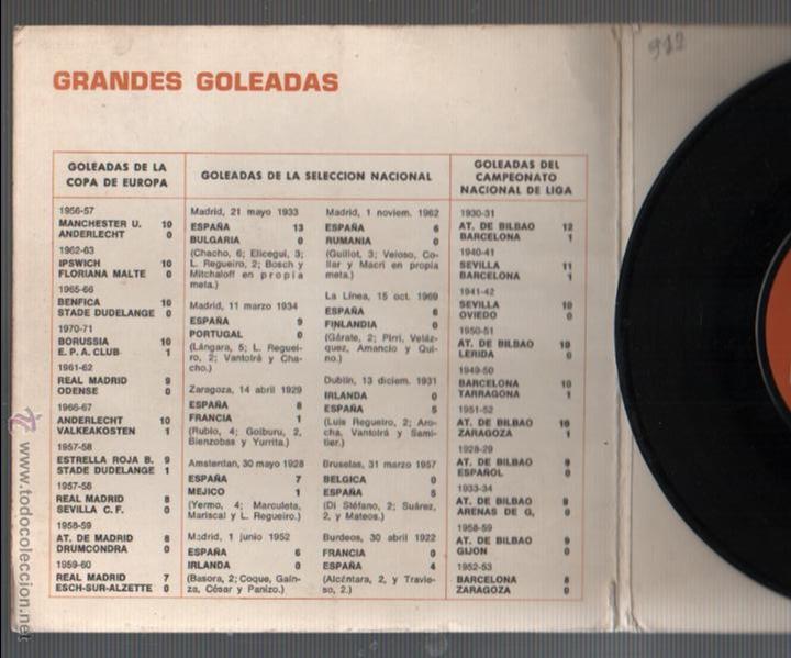Coleccionismo deportivo: interesante disco el gol, rey del futbol - canción a la selección española -de rca - 1971 - Foto 3 - 50823188