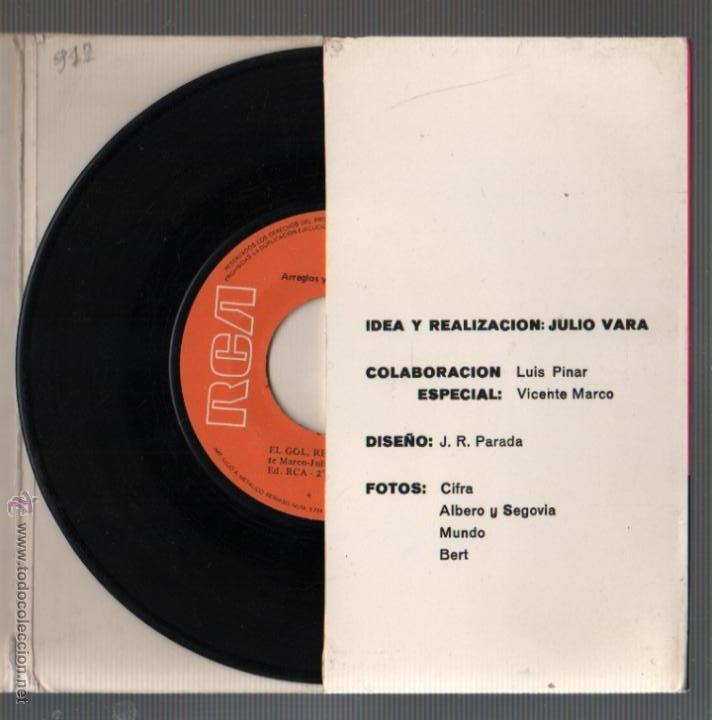 Coleccionismo deportivo: interesante disco el gol, rey del futbol - canción a la selección española -de rca - 1971 - Foto 4 - 50823188
