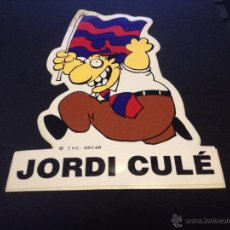 Coleccionismo deportivo: PEGATINA JORDI CULE DEL FUTBOL CLUB FC BARCELONA F.C BARÇA CF. Lote 50853141