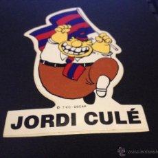 Coleccionismo deportivo: PEGATINA JORDI CULE DEL FUTBOL CLUB FC BARCELONA F.C BARÇA CF. Lote 50853160