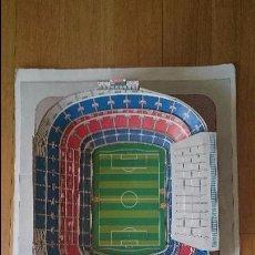 Coleccionismo deportivo: MAQUETA ESTADIO CAMP NOU FC BARCELONA BARÇA ENTREGABLE MARCA AÑOS 90 CONSTRUIDA. Lote 51002994