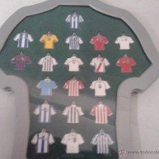 Coleccionismo deportivo: COLECCION 20 LLAVEROS/CAMISETAS EQUIPACIONES DIARIO MARCA EQUIPOS DE 1ª DIVISION 2002-2003-02-03. Lote 51012662