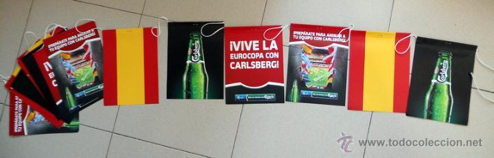 COLGANTES FUTBOL EUROCOPA 2012 UEFA EURO CERVEZA CARLSBERG BEER FOOTBALL ESPAÑA (Coleccionismo Deportivo - Merchandising y Mascotas - Futbol)