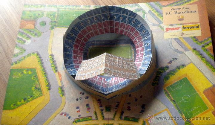 MAQUETA CAMP NOU F.C. BARCELONA (Coleccionismo Deportivo - Merchandising y Mascotas - Futbol)
