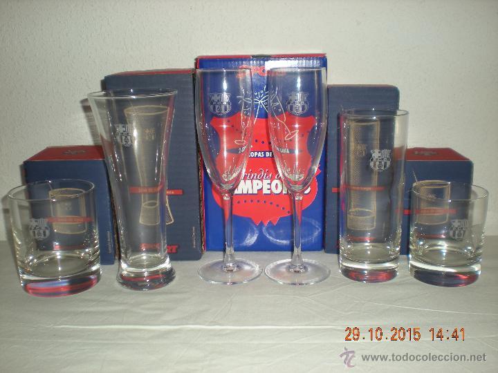 COLECCIÓN VASOS DEL BARÇA (DIARIO SPORT) INCOMPLETA (Coleccionismo Deportivo - Merchandising y Mascotas - Futbol)