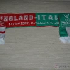Coleccionismo deportivo: BUFANDA EUROPEO SUB 21 INGLATERRA ITALIA 2007. Lote 52449994
