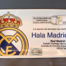 Coleccionismo deportivo: BANDEJA CUADRADA REAL MADRID EN PORCELANA - HALA MADRID. Lote 52638080