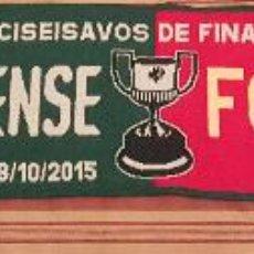 Coleccionismo deportivo: BUFANDA COPA DEL REY CF VILLANOVESE - FC BARCELONA. Lote 52710469