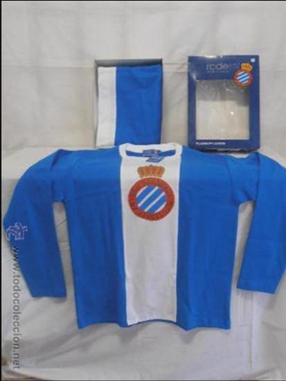 PIJAMA DEL R.C.D.ESPAÑOL NUEVO TALLA S (Coleccionismo Deportivo - Merchandising y Mascotas - Futbol)