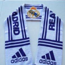Coleccionismo deportivo: BUFANDA FUTBOL REAL MADRID C.F. - ORIGINAL ADIDAS.. Lote 52873051