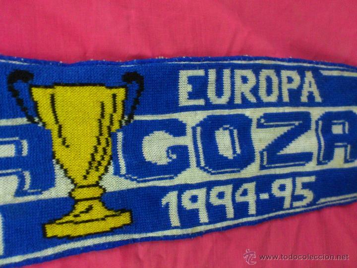 Coleccionismo deportivo: BUFANDA FUTBOL REAL ZARAGOZA RECOPA EUROPA CAMPEON 1994 1995.. ALFONSOJO - Foto 2 - 53016291