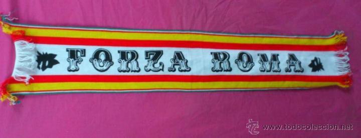 BUFANDA FUTBOL FORZA ROMA ITALIA .. ALFONSOJO (Coleccionismo Deportivo - Merchandising y Mascotas - Futbol)