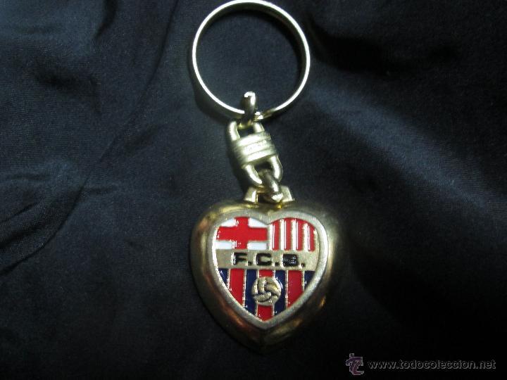 Llavero F C Barcelona Forma Corazon Kaufen Fußball Merchandising
