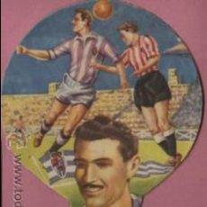 Coleccionismo deportivo: INTERESANRE ABANICO PAY PAY DEL JUGADOR DEL REAL VALLADOLID LESMES I .PUBLI. FELIU BOET BARNA . Lote 53215603