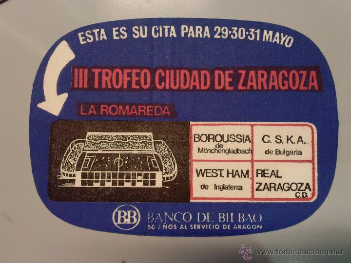 POSAVASOS REAL ZARAGOZA C.D. (Coleccionismo Deportivo - Merchandising y Mascotas - Futbol)