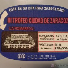 Coleccionismo deportivo: POSAVASOS REAL ZARAGOZA C.D.. Lote 53244395