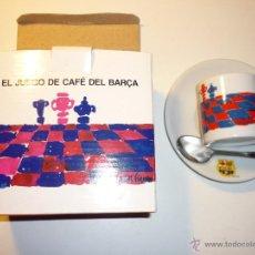 Coleccionismo deportivo: JUEGO CAFÉ DEL BARÇA, DISEÑO VIVES FIERRO - TAZA, PLATO Y CUCHARILLA - F.C. BARCELONA. Lote 53289701