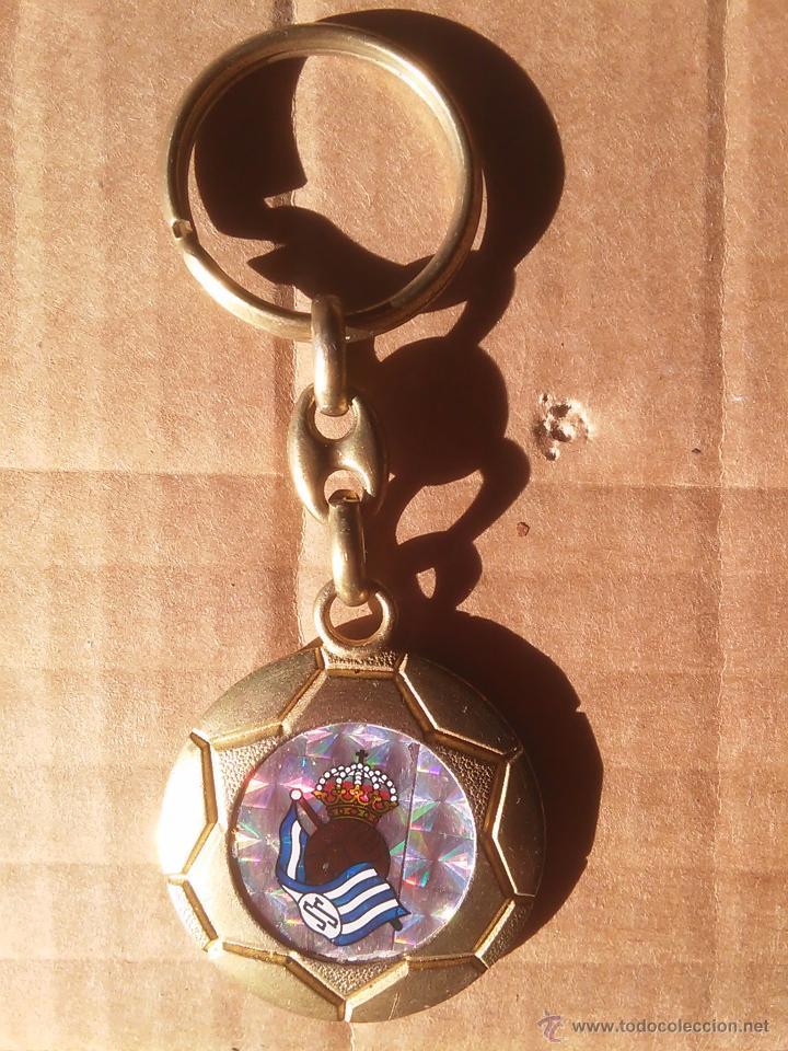 VIEJO LLAVERO REAL SOCIEDAD DONOSTIA SAN SEBASTIAN (Coleccionismo Deportivo - Merchandising y Mascotas - Futbol)