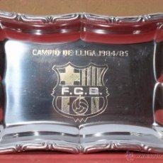 Coleccionismo deportivo: PLACA BANDEJA CHAPA PUBLICIDAD FUTBOL FC BARCELONA BARÇA CAMPEON LIGA 1984 1985 CATALUNYA (6. Lote 53536889
