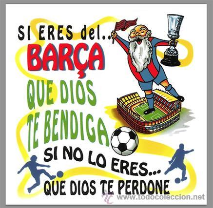 AZULEJO 15X15 SI ERES DEL BARCA (Coleccionismo Deportivo - Merchandising y Mascotas - Futbol)
