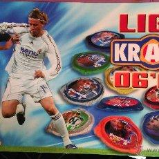 Coleccionismo deportivo: LIGA KRAKS 06 07 2006 2007 PANINI TAZOS ARCHIVADOR DOBLE CAJA 128 KRAKS (CON ESPECIALES) VER FOTOS. Lote 53869021