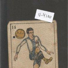Coleccionismo deportivo: CROMO CARTA-BARAJA FUTBOL 11 OROS -OLARIAGA -ESPAÑOL- REVERSO TRABAL - ESPAÑOL- CH. PI - (V-4100). Lote 53956816