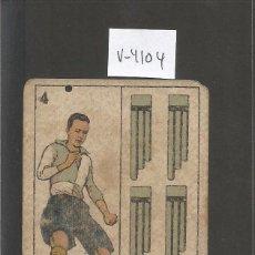 Coleccionismo deportivo: CROMO CARTA-BARAJA FUTBOL-4 ESPADAS - LLUMA SABADELL- REVERSO MOLINS SABADELL- CH. PI - (V-4104). Lote 53957141