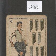 Coleccionismo deportivo: CROMO CARTA-BARAJA FUTBOL-8 ESPADAS -BERTRAN SABADELL- REVERSO MOLINS SABADELL- CH. PI - (V-4108). Lote 53957340