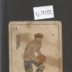 Coleccionismo deportivo: CROMO CARTA-BARAJA FUTBOL-11 ESPADAS-ESTRUCH SABADELL-REVERSO ARNET SABADELL- CH. PI - (V-4112). Lote 53957443