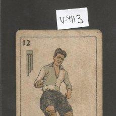 Coleccionismo deportivo: CROMO CARTA-BARAJA FUTBOL-12 ESPADAS-CABEDO SABADELL-REVERSO ESTRUCH SABADELL- CH. PI - (V-4113). Lote 53957481