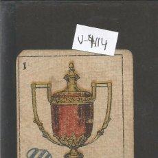 Coleccionismo deportivo: CROMO CARTA-BARAJA FUTBOL-1 COPAS - EUROPA -REVERSO BORDOY EUROPA - CH. PI - (V-4114). Lote 53957586