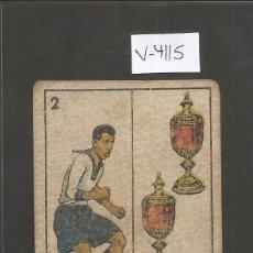 Coleccionismo deportivo: CROMO CARTA-BARAJA FUTBOL-2 COPAS - PELLICER EUROPA -REVERSO PELAO EUROPA - CH. PI - (V-4115). Lote 53957674