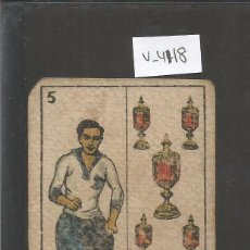 Coleccionismo deportivo: CROMO CARTA-BARAJA FUTBOL- 5 COPAS -ALCAZAR EUROPA -REVERSO ALCAZAR EUROPA - CH. PI - (V-4118). Lote 53958200