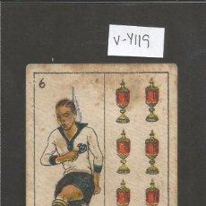 Coleccionismo deportivo: CROMO CARTA-BARAJA FUTBOL- 6 COPAS -GARROBE EUROPA -REVERSO BORDOY EUROPA - CH. PI - (V-4119). Lote 53958251