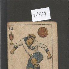 Coleccionismo deportivo: CROMO CARTA-BARAJA FUTBOL- 12 COPAS - CROS EUROPA -REVERSO JAVIER EUROPA - CH. PI - (V-4124). Lote 53958862