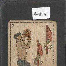 Coleccionismo deportivo: CROMO CARTA-BARAJA FUTBOL-2 BASTOS- PASCUAL BARCELONA -REVERSO PIERA BARCELONA - CH. PI - (V-4126). Lote 53958945