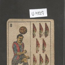 Coleccionismo deportivo: CROMO CARTA-BARAJA FUTBOL-8 BASTOS- PLANAS BARCELONA -REVERSO TORRALBA BARCELONA - CH. PI - (V-4129). Lote 53959078
