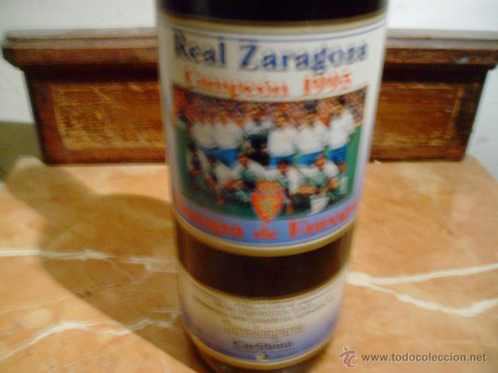 Coleccionismo deportivo: botella conmemorativa de la recopa del real zaragoza 1995. - Foto 3 - 54019239