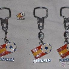 Coleccionismo deportivo: LOTE 5 LLAVEROS E INSIGNIA ESPAÑA 82. Lote 54185155