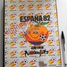 Coleccionismo deportivo: CARPETA DE ANILLAS ESPAÑA 82 NARANJITO Y LOGOTIPO - MUNDIAL ESPAÑA82 FÚTBOL DEPORTE MASCOTA AÑO 1982. Lote 54327047