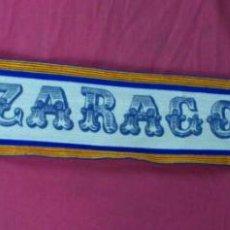 Coleccionismo deportivo: BUFANDA FUTBOL DEL REAL ZARAGOZA AÑOS 80. Lote 54727665