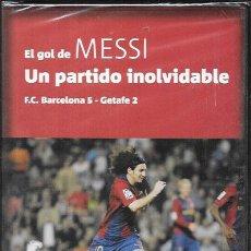 Coleccionismo deportivo: DVD * EL GOL DE MESSI , UN PARTIDO INOLVIDABLE *PRECINTADO. Lote 54836675