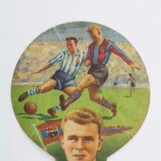 Coleccionismo deportivo: ANTIGUO PAI PAI DE FÚTBOL - KUBALA. CF BARCELONA - PUBLICIDAD PERFUMERÍA ROSSELL, BADALONA - PAY PAY. Lote 54873337