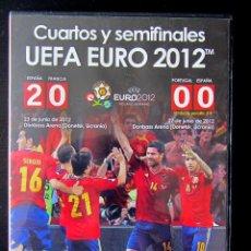Coleccionismo deportivo: DVD EURO 2012 EUROCOPA UEFA CUP ESPAÑA CAMPEONA CUARTOS DE FINAL Y SEMIFINAL. Lote 187437587