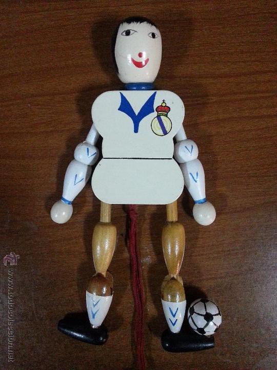 FUTBOL.COLECCION REAL MADRID. ANTIGUA FIGURA PELELE. AUTÓMATA DE MADERA. (Coleccionismo Deportivo - Merchandising y Mascotas - Futbol)