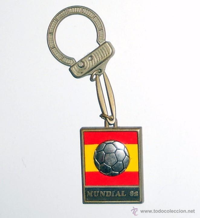 LLAVERO KEYRING ANTIGUO FUTBOL MUNDIAL ESPAÑA 82. FOOTBALL VINTAGE. WORLD CUP SPAIN 82 (Coleccionismo Deportivo - Merchandising y Mascotas - Futbol)