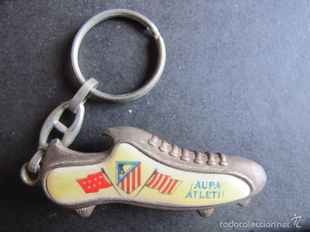 LLAVERO ANTIGUO ATLETICO DE MADRID FUTBOL BOTA (Coleccionismo Deportivo - Merchandising y Mascotas - Futbol)