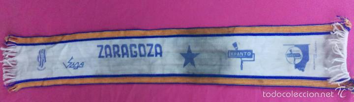VINTAGE BUFANDA FUTBOL SALA SEGO ZARAGOZA PINTURAS LEPANTO. LEER BIEN (Coleccionismo Deportivo - Merchandising y Mascotas - Futbol)