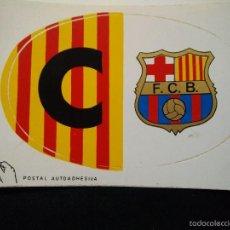 Coleccionismo deportivo: PEGATINA DEL FUTBOL CLUB FC BARCELONA F.C BARÇA CFCATALUNYA BARÇA PARA COCHE. Lote 56079140